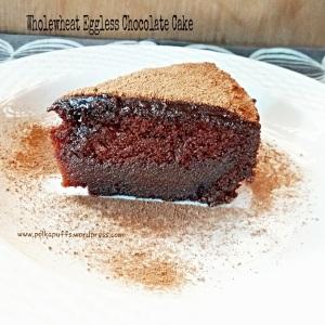 Wholewheat Chocolate Cake Basic Eggless Chocolate Cake Chocolate Sponge Cake Recipe Chocolate cake with chocolate frosting Whole wheat sponge cake Healthy cake recipe How to make a eggless cake