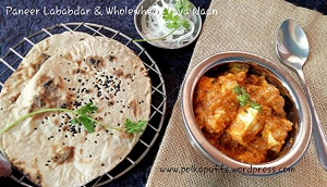 Paneer lababdar recipe How to make restaurant style paneer lababdar Tava naan recipe Wholewheat Tava naan recipe Easy recipe for naan Indian flatbreads Indian food Indian recipes