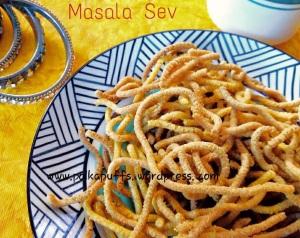Masala sev recipe How to make masala sev Teekha sev recipe Indian snack Savoury snacks Diwali recipes Besan sev recipe  Kara Sev recipe