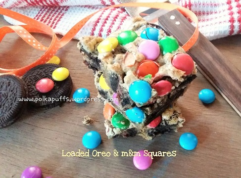 oreo and mnm bars , how to make oreo bars , mnm squares
