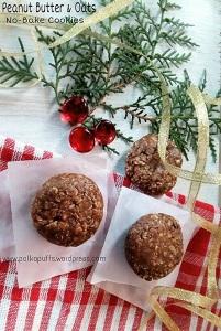 No bake cookies recipe Peanut butter & oats cookies recipe Christmas recipes Polkapuffs Polkapuffs recipes Easy cookie recipes for Christmas Christmas menu Cookie ideas Oat no bake cookies