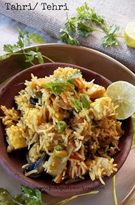 Tehri recipe Tehri recipe U.p. Style food Easy rice dishes Veg pulav recipe How to make vegetable Pulav Rice variety Indian recipe Polkapuffs