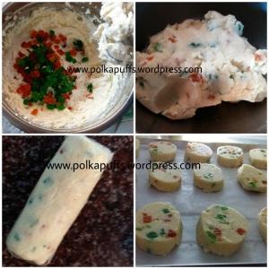 Eggless fruit cookies recipe Tutti frutti biscuit recipe Karachi bakery biscuit recipe Polkapuffs Easy Christmas cookies