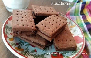 Bourbons recipe Homemade Bourbon biscuits recipe Britannia bourbon English cookies recipe Christmas cookies Kids party idea How to make Bourbon biscuits at home