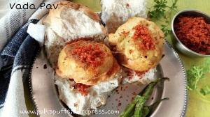Vada Pav recipe How to make vada Pav at home Vada Pav chutney Garlic chutney recipe for vada Pav Batata vada recipe Mumbai vada Pav recipe Polkapuffs recipe
