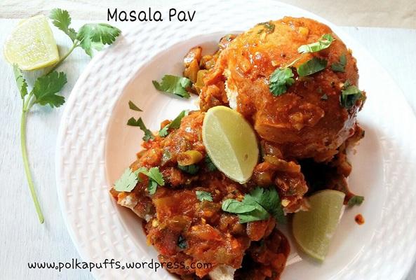 Masala Pav recipe Street food Mumbai Pav bhaji PolkaPuffs recipe Indian street food Snacks