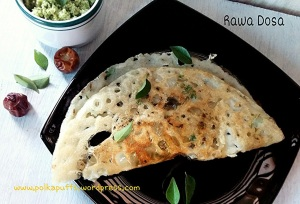 Rawa Dosa recipe How to make Rawa dosa Onion Rawa dosa recipe Coconut chutney recipe Udupi style Rawa dosa recipe Unduly style coconut chutney recipe Breakfast recipes Polkapuffs recipes South Indian recipes