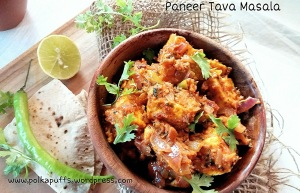 Paneer tava masala recipe How to make paneer tava masala Vegetarian Indian recipes Paneer recipes PolkaPuff recipe