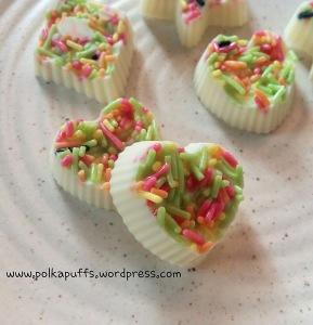 Homemade chocolate Polkapuffs