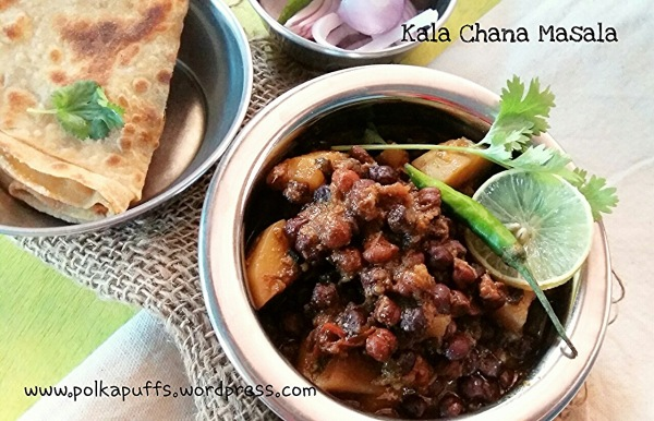 Kala Chana masala Chana masala recipe Indian recipes Polkapuffs recipe Main course Meal ideas