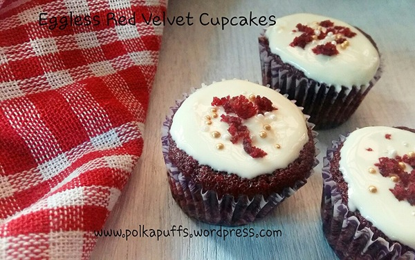 Red velvet cupcakes Eggless red velvet cupcakes recipe How to make eggless red velvet cupcakes Easy recipe for red velvet cupcakes