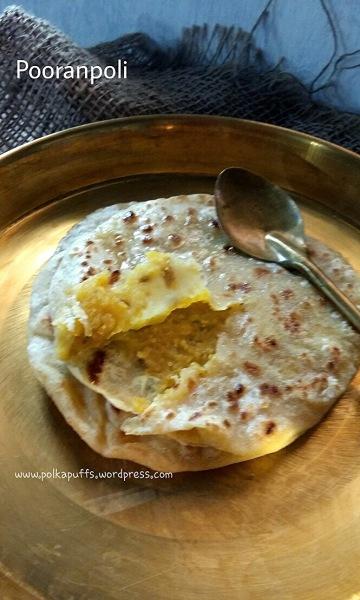 Pooranpoli recipe Polkapuffs recipe Maharashtrian recipe Puranpoli