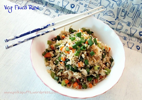 Restaurant style Chinese fried rice Veg fried rice recipe Leftover rice recipes Polkapuffs recipes