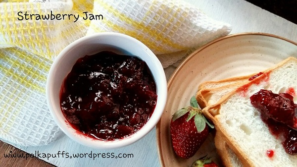 3 ingredient strawberry jam Homemade strawberry jam recipe Polkapuffs recipe No pectin strawberry jam recipe
