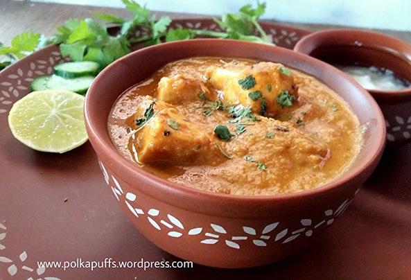 Shahi paneer recipe How to make restaurant style shahi paneer Polkapuffs recipes North Indian main course
