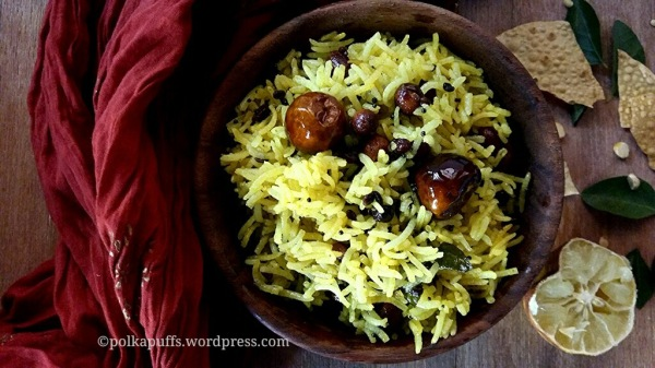 How to make lemon rice Recipe for lemon rice Polkapuff recipes Lemon rice