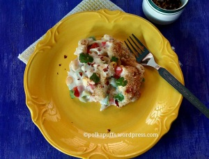 Cheesy Baked Pasta recipe Homemade white sauce recipe Bechamèl sauce recipe Polkapuffs recipe Penne pasta recipe
