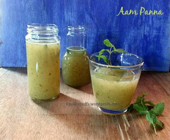 Aam panna recipe Indian mango cooler Homemade aam Panna Raw Mayo aam Panna Polkapuffs