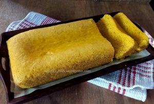 Eggless custard powder cake recipe Polkapuffs recipes Eggless cake recipe