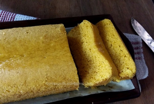Eggless custard powder cake recipe Polkapuffs recipes Eggless cake recipe