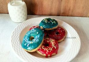 Baked doughnuts Baked donuts Eggless donuts Eggless doughnuts Polkapuffs recipe