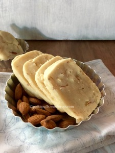 Almond cookies Almond shortbread cookies How to make eggless cookies Polkapuffs recipes