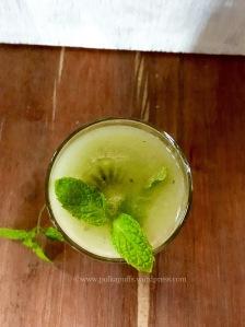 Kiwi Aqua Fresca recipe How to make agua Fresca Summer drink PolkaPuffs recipe