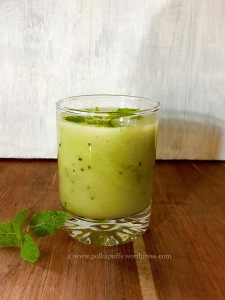 Kiwi Aqua Fresca recipe How to make agua Fresca Summer drink PolkaPuffs recipe