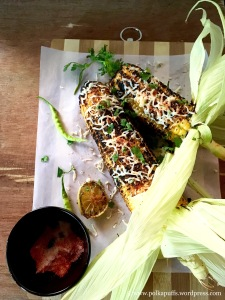 How to make masala corn on the cob Polkapuff recipe for corn on the cob Healthy corn on the cob recipes