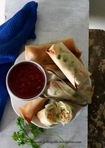Baked Spring Rolls How to make. Asked Spring rolls Polkapuffs recipe