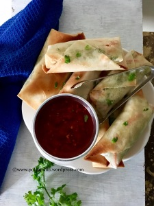 Baked Spring Rolls How to make. Asked Spring rolls Polkapuffs recipe