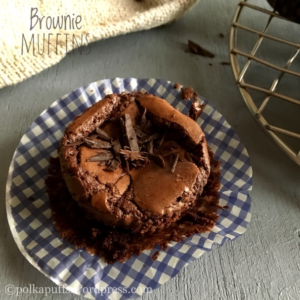 Brownie Muffins recipe How to make fudgy brownies Polkapuffs recipe for brownie Easy homemade brownie recipe