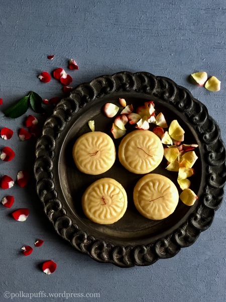 Instant Kesar Peda recipe How to make kesar Peda Polkapuffs recipes Diwali sweets recipe