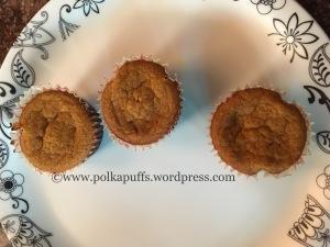 Eggless cinnamon sugar pumpkin muffins Polkapuffs recipe Eggless vegan muffins