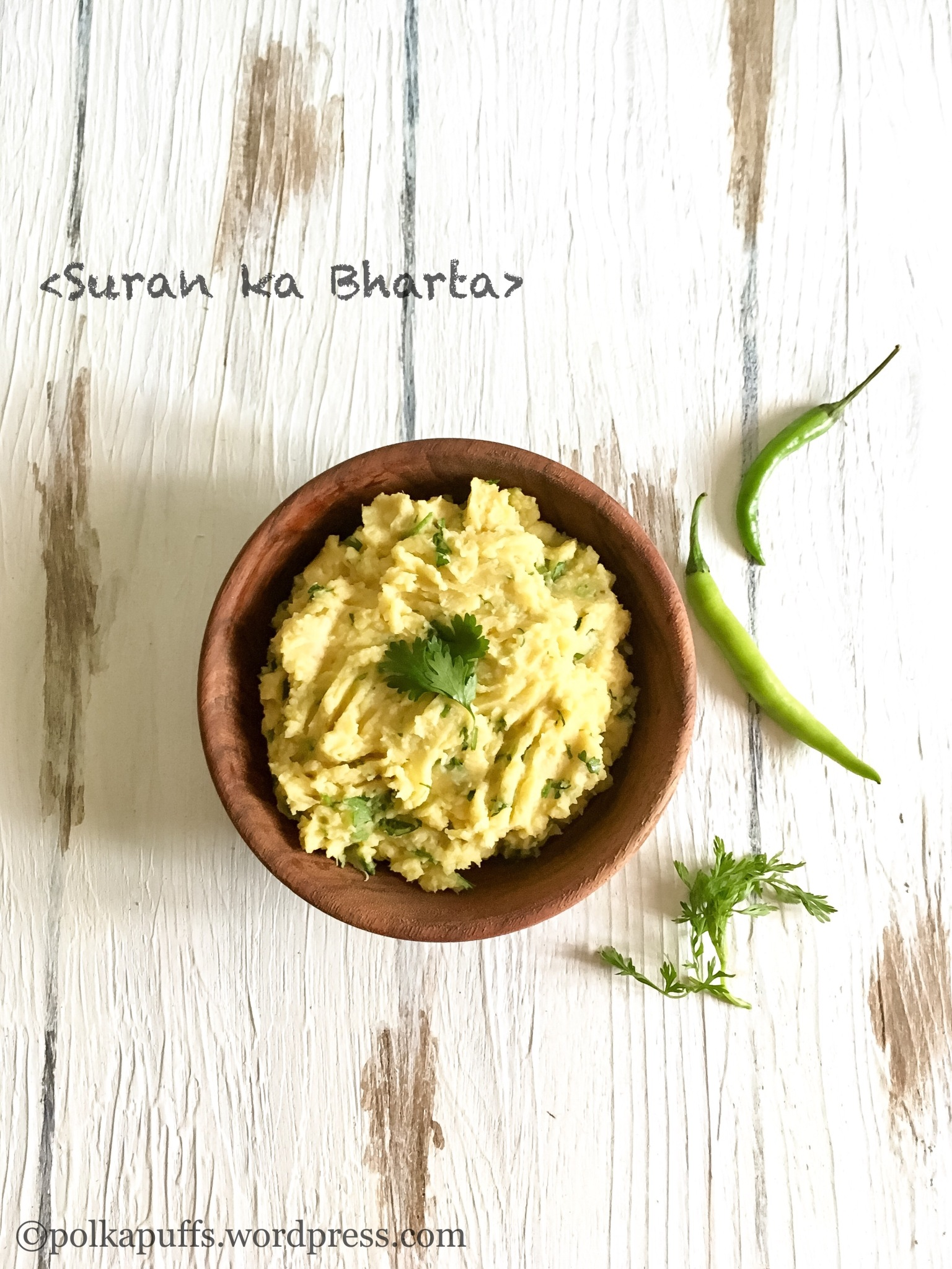 Suran Ka chokha  Jimikand Ka Bharta  Oal Ka chokha  Vegan recipes Polkapuffs recipes Shreya tiwari  Spicy mashed elephant food yam recipe