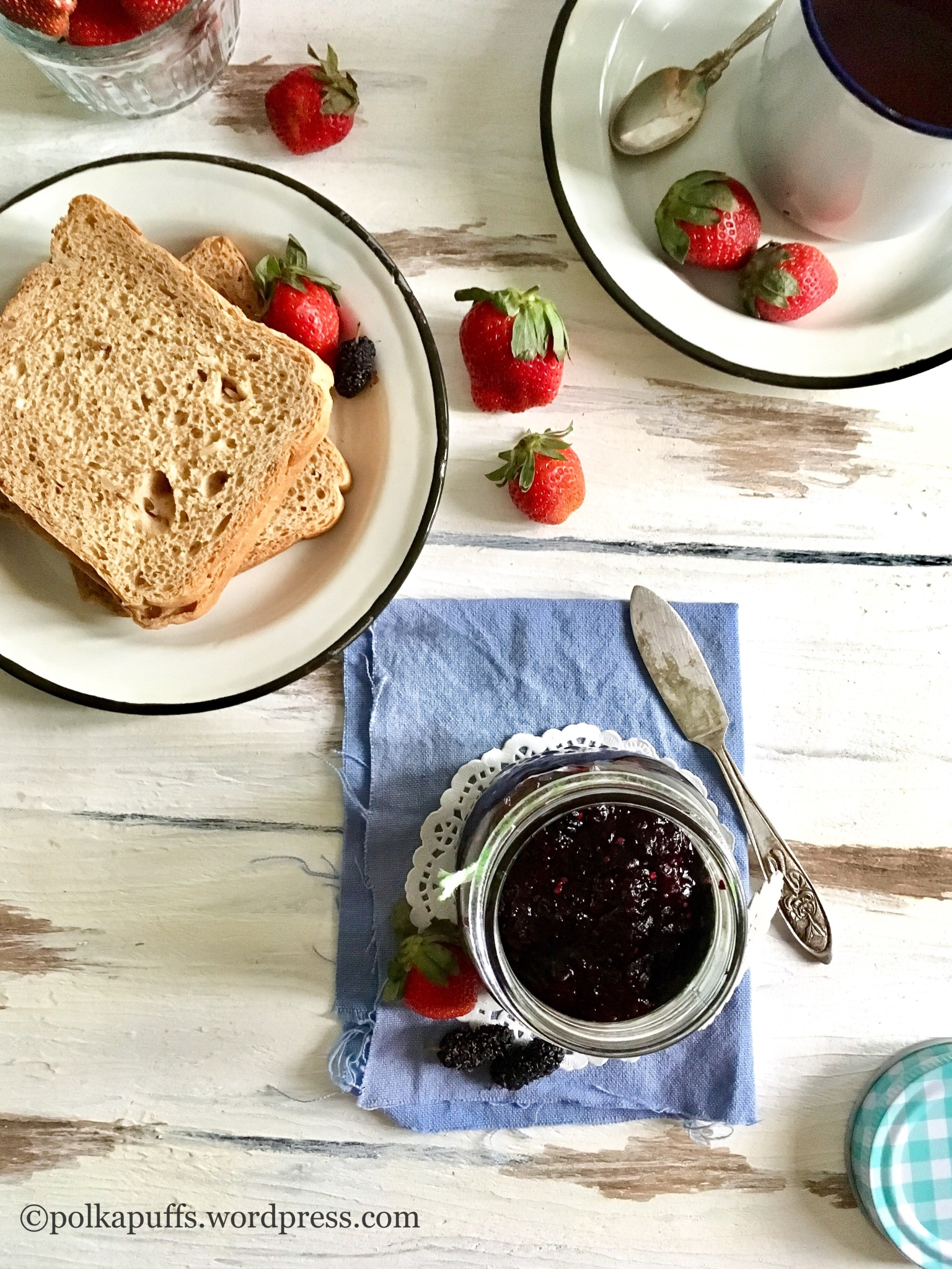 3 ingredient strawberry jam  3 Ingredient mixed berries jam Homemade strawberry jam recipe Polkapuffs recipe No pectin strawberry jam recipe No pectin jam recipe  Mulberry jam recipe  How to make jam at home without pectin