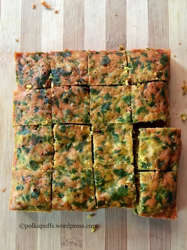 Kothmir Wadi recipe How to make kothambir Wadi at home Maharashtrian recipes Polkapuffs