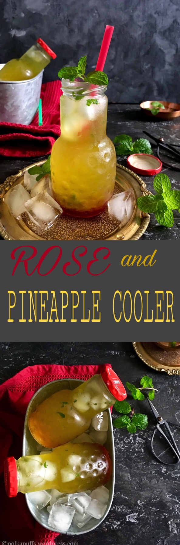 Rose and Pineapple Cooler | Vegan