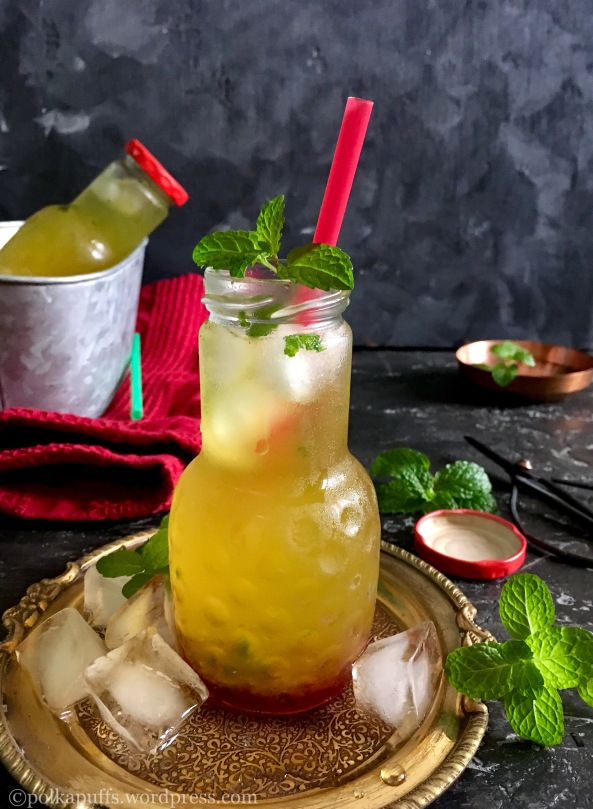 Rose and Pineapple cooler Non alcoholic summer mocktail Pineapple cooler recipe Polkapuffs recipes Shreya tiwari photography Rose mocktail